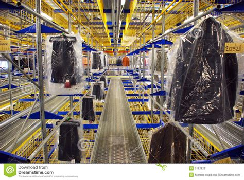 automatic clothing warehouse stock photos image 5192823