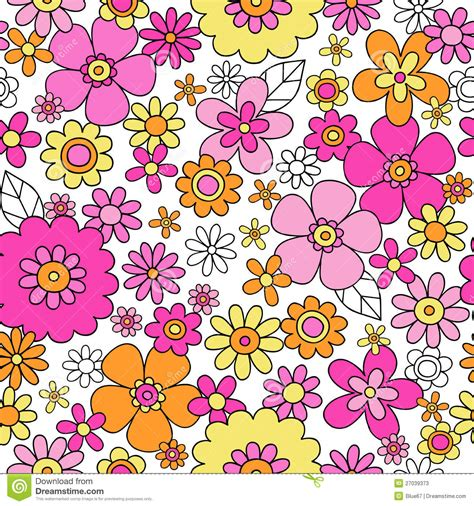 floral pattern repeat vector spring flowers seamless repeat pattern vector illu stock