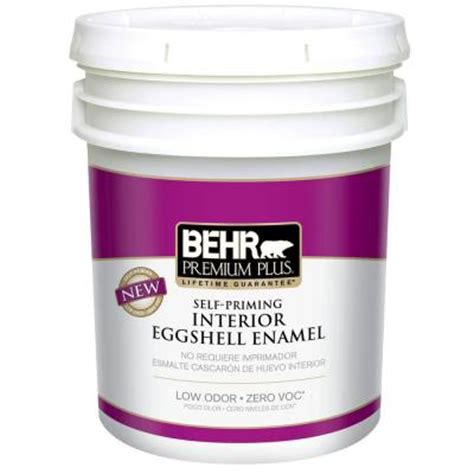 home depot paint no voc behr premium plus 5 gal ultra white eggshell enamel