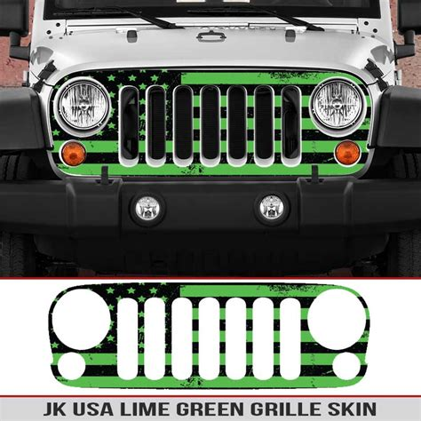 jeep grill decal jeep wrangler jk grille skin usa alphavinyl