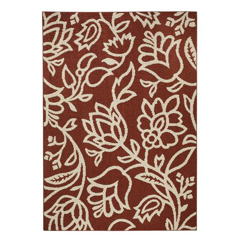 K Mart Area Rugs Essential Home Regency 5 X7 Floral Rectangular Area Rug