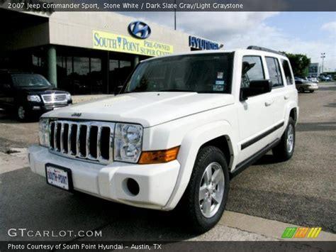2007 White Jeep Commander White 2007 Jeep Commander Sport Slate Gray