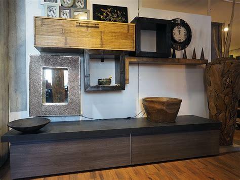 mobili pensili soggiorno soggiorno etnico industrial in essenza grigio con parete