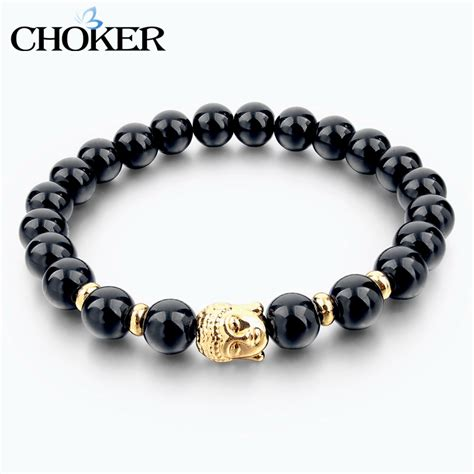 black and silver bead bracelet bead buddha bracelets for and gold