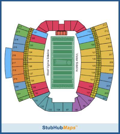 wvu stadium seating west virginia football milan puskar stadium espn