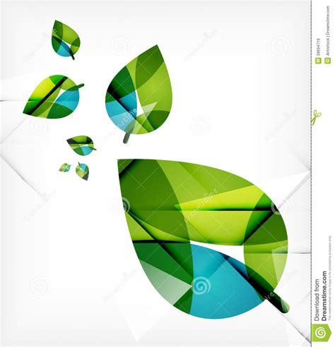 design concept leaf green leaves spring nature design concept stock vector