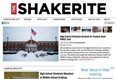high school newspaper template snosites school newspapers college newspapers