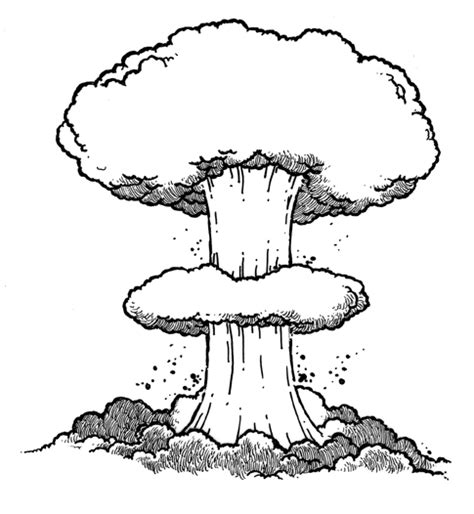 doodle how to make nuclear bomb atomic bomb cloud drawing sketch coloring page
