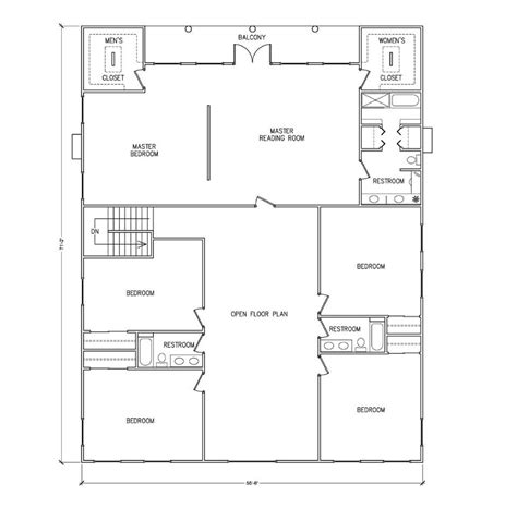 barndominium floor plans 40x50 metal building house