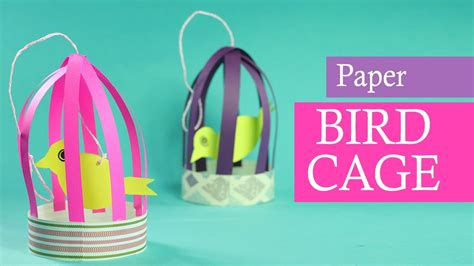 paper crafts for paper bird with cage for balcony