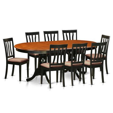 9 pc dining room table sets bisonoffice 9 pc dining room set dining table with 8 wood