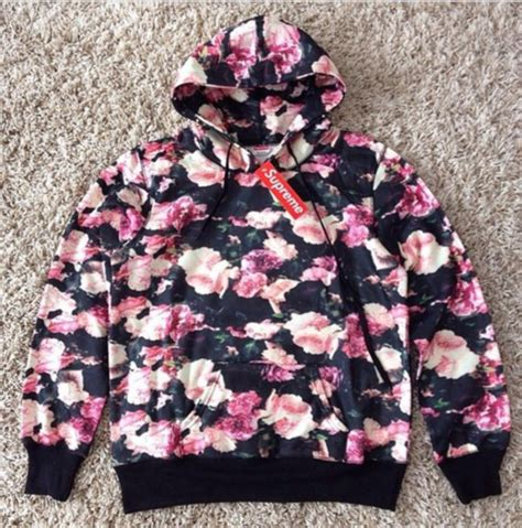 Fower Flower Sweater Hody sweater hoodie floral supreme flowers style cozy