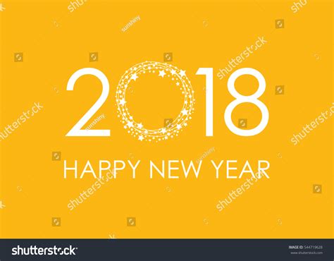happy new year text vector 2018 happy new year text card stock vector 544719628