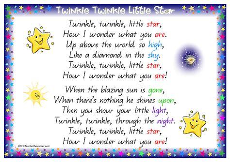 Twinkle Twinkle And Other Bedtime Rhymes nursery rhyme twinkle