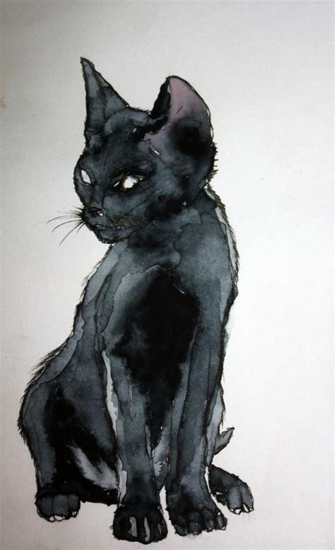 black cat painting designs mon ptit chat noir by vodoc on deviantart