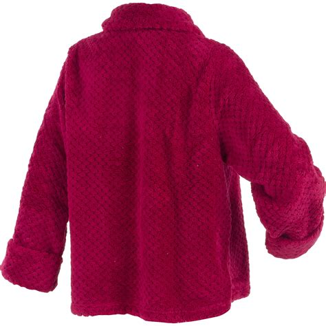 womens luxury waffle fleece bed jacket slenderella button