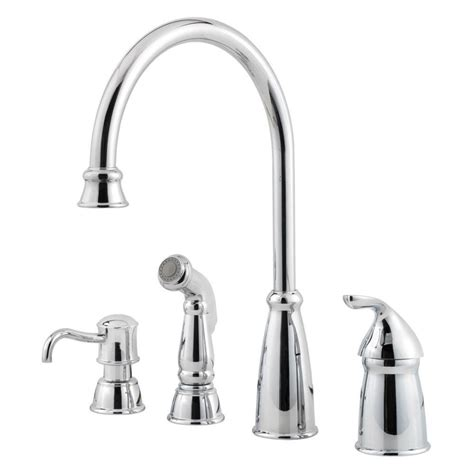 kitchen faucet pfister pfister avalon single handle high arc standard kitchen faucet with side sprayer in polished