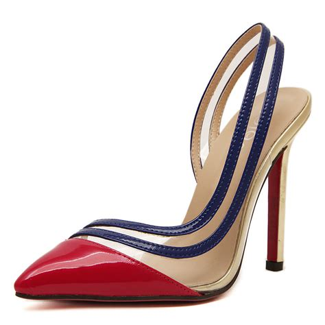 high heel shoes with bottoms 2016 bottom high heels shoes splice pointed