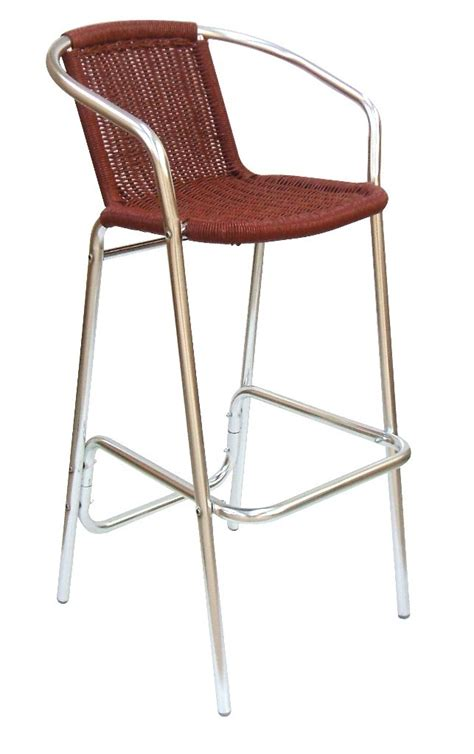 outdoor bar stools uk outddor aluminium high stool with arms monaco online