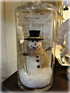 diy snowman in a jar with christmas sheet music