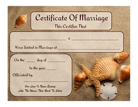 keepsake marriage certificate template 8 best images of free printable certificate free