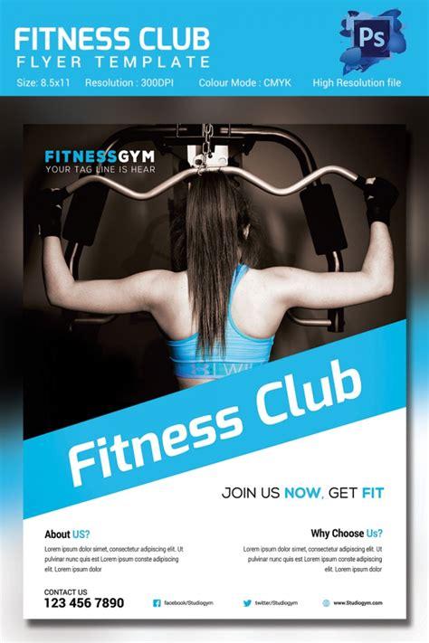 fitness flyer template 32 free psd format download