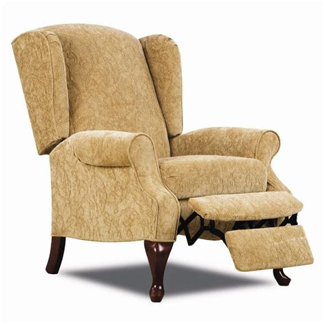 lane wingback recliner chair lane hi leg recliners 2579 traditional heathgate hileg