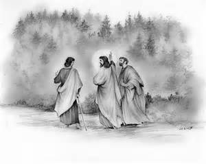Duvet Cover Black And White Walk To Emmaus Drawing By Greg Joens