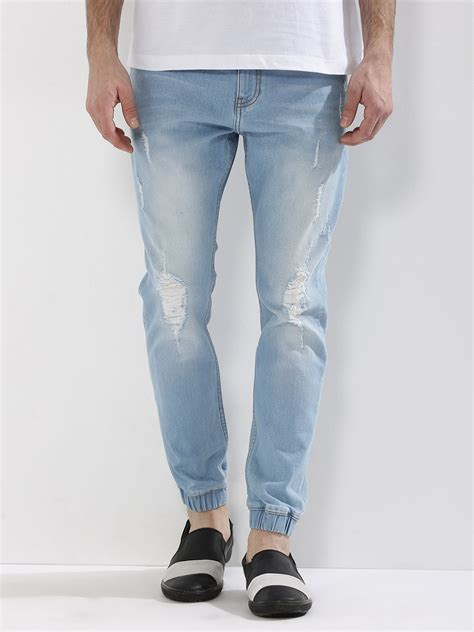 buy k denim light wash ripped cuffed for s