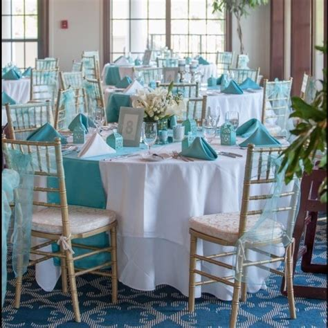 Gorgeous Tiffany Blue & Silver wedding decorations I'm