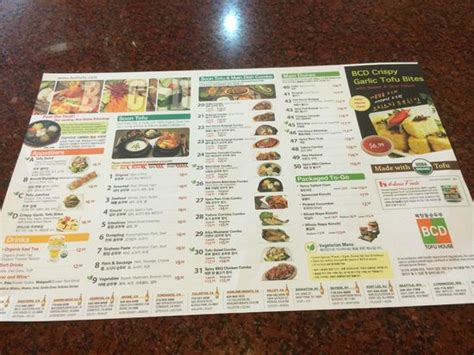 tofu house menu menu picture of bcd tofu house los angeles tripadvisor