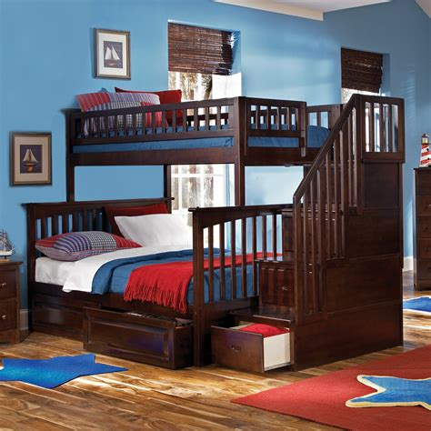 bunk beds for kids with stairs bedroom cheap bunk beds with stairs cool beds triple