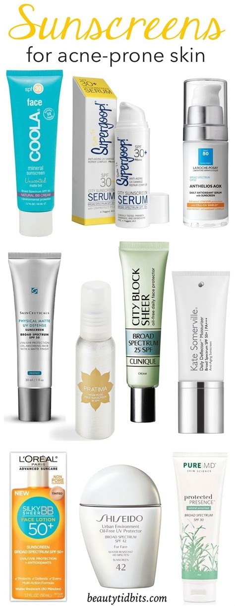 best acne skin care best sunscreens for acne prone skin