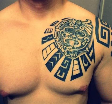 mayan tribal tattoo designs mayan chest plate design