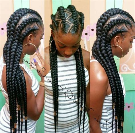 Big Cornrow Hairstyles For Black Women With Bangs | big cornrow hairstyles for black women with bangs 19