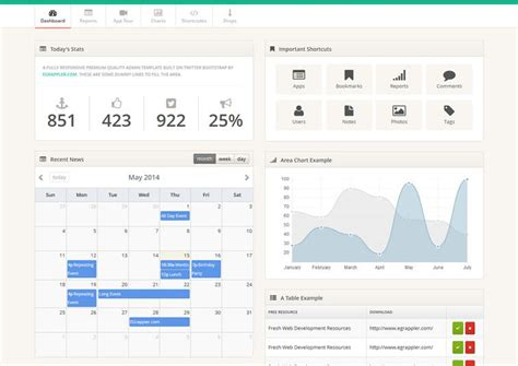 20 free bootstrap admin dashboard templates