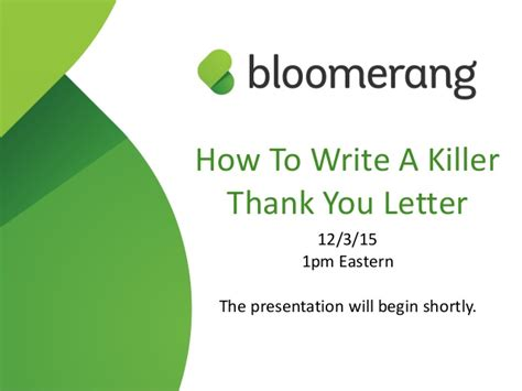 how to write a killer thank you letter