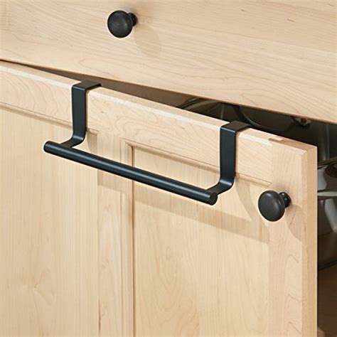 black bathroom cabinet with towel bar mdesign over the cabinet towel bar holder for bathroom or