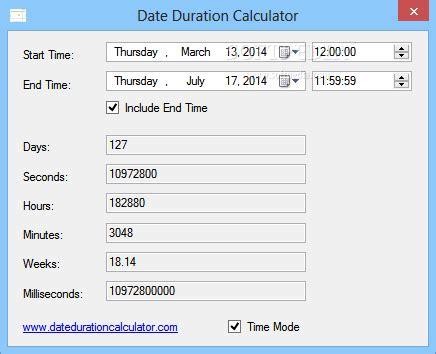 Calendar Calculator Weeks Between Two Dates Date Duration Calculator