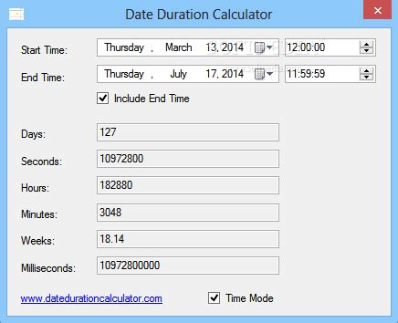 how to calculate time difference between two dates in