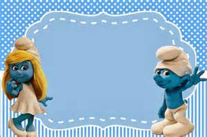 smurfs invitations and party free printables for boys