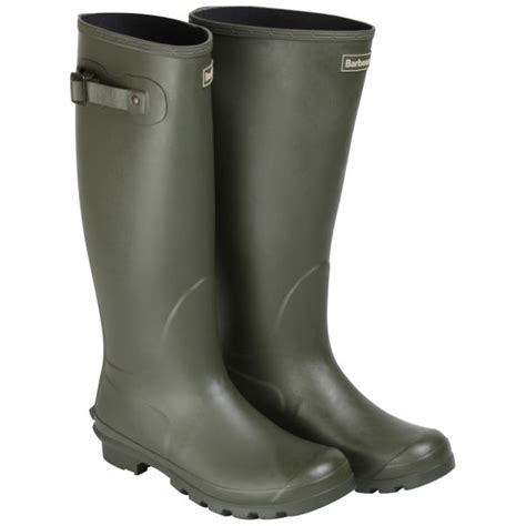 barbour mens classic wellington boots in gray for