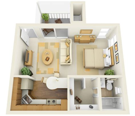 11 ways divide a studio apartment into multiple rooms