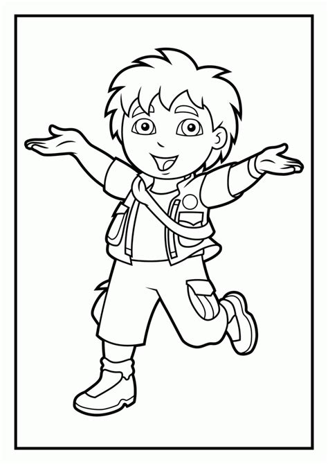 coloring in pages printable go diego coloring pages printable az coloring pages