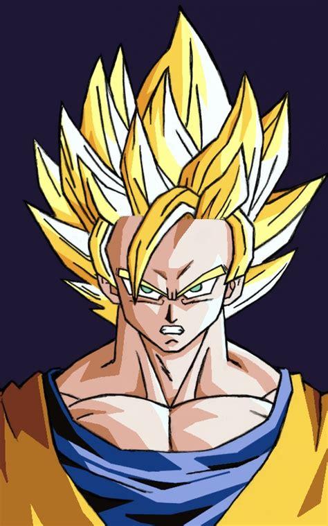 Pajangan Goku Saiyan 2 goku ssj2 color by amir92 on deviantart