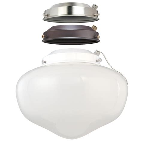 westinghouse ceiling fan light kit westinghouse 1 light led schoolhouse ceiling fan light kit