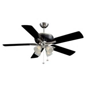 black ceiling fans with lights shop harbor tiempo 52 in brushed nickel black