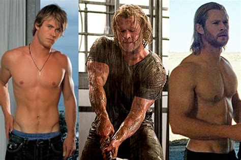 how much can chris hemsworth bench 4 incredible celebrity transformations superhero body