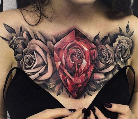 rose tattoo chest piece 10 best images about on tribal chest tattoos