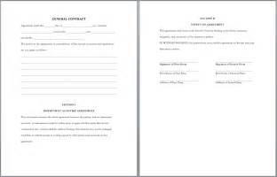 what is the purpose of a template general purpose contract template format template